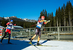 BOEHM Daniel (GER) competes during Men 15 km Mass Start at day 4 of IBU Biathlon World Cup 2014/2015 Pokljuka, on December 21, 2014 in Rudno polje, Pokljuka, Slovenia. Photo by Vid Ponikvar / Sportida