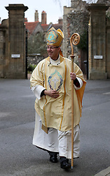 The Archbishop of Canterbury Justin Welby arrives for the Christmas Day service at Canterbury Cathedral.
