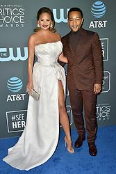 Chrissy Teigen, John Legend attend the 24th annual Critics' Choice Awards at Barker Hangar on January 13, 2019 in Santa Monica, CA, USA. Lionel Hahn/ABACAPRESS.COM