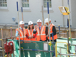 Labour visit Cross Rail site. <br /> (L-R)  Terry Morgan CBE - Crossrail, Rachel Reeves MP, Rt Hon Ed Balls MP and Sir John Armitt visiting Cross Rail site at Bond Street station during the Armitt infrastructure planning review launch, London, United Kingdom. Thursday, 5th September 2013. Picture by Elliot Franks / i-Images