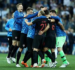 June 21, 2018 - Nizhny Novgorod, Russia - Group D Argentina v Croazia - FIFA World Cup Russia 2018.Croatia celebration at Nizhny Novgorod Stadium, Russia on June 21, 2018. (Credit Image: © Matteo Ciambelli/NurPhoto via ZUMA Press)