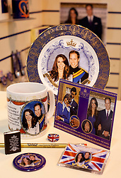 © under licence to London News Pictures. 08/02/2011. Thousands of trade visitors flocked to the Spring Fayre at the NEC in Birmingham to buy this years must have gifts. Top of the list this year, Royal Souvenirs ready for the Royal Wedding in April, everything from a pin badge to forty foot flag were on display. Mugs, erasers, fridge magnets, pencils, cards, keyrings, everything is available to buy before the big day..Picture credit: Dave Warren/London News Pictures...