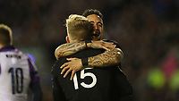 Rugby Union - 2017 Autumn Internationals - Scotland vs. New Zealand<br /> <br /> Damian McKenzie of New Zealand celebrates scoring the second try at Murrayfield.<br /> <br /> COLORSPORT/LYNNE CAMERON