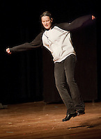 Ashley Marsh performed a Rap Tap during the LHS Talent Show Wednesday evening earning her second place honors from the judges.(Karen Bobotas/for the Laconia Daily Sun)