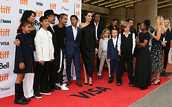 September 12, 2017 - Toronto, Canada - LOUNG UNG, RITHY PANH, ANGELINA JOLIE WITH HER CHILDREN MADDOX, PAX, VIVIENNE, KNOX, SHILOH AND ZAHARA - RED CARPET OF THE FILM 'FIRST THEY KILLED MY FATHER' - 42ND TORONTO INTERNATIONAL FILM FESTIVAL 2017 (Credit Image: © Visual via ZUMA Press)