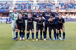 June 13, 2018 - San Jose, CA, U.S. - SAN JOSE, CA - JUNE 13: San Jose Earthquakes pose prior to the MLS game between the New England Revolution and the San Jose Earthquakes on June 13, 2018, at Avaya Stadium in San Jose, CA. The game ended in a 2-2 tie. (Photo by Bob Kupbens/Icon Sportswire) (Credit Image: © Bob Kupbens/Icon SMI via ZUMA Press)