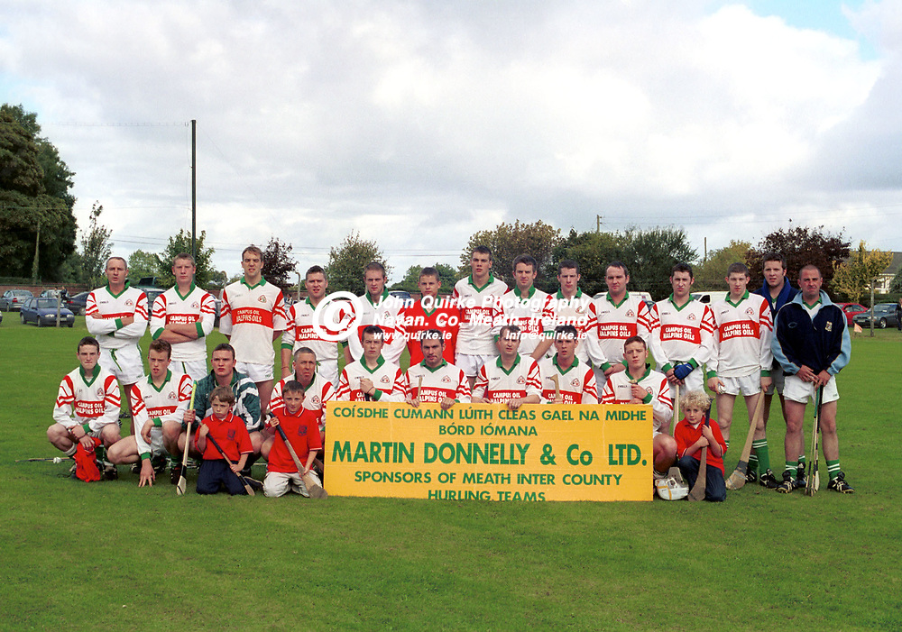 16-09-01.<br />MEATH I.H.C. FINAL - Athboy v Gaeli Colmcille.<br />The Gaeil Colmcille Panel of Playyers which lost to Athboy in the above.<br />Photo: John Quirke.