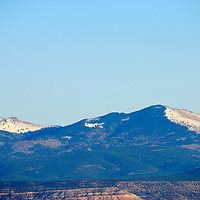 020915  Adron Gardner/Independent<br /> <br /> Snow frosts the south face of Mt. Taylor viewed from Thoreau Monday.