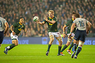 Pieter-Steph du Toit (#7) (DHL Western Province) of South Africa during the Autumn Test match between Scotland and South Africa at the BT Murrayfield Stadium, Edinburgh, Scotland on 17 November 2018.