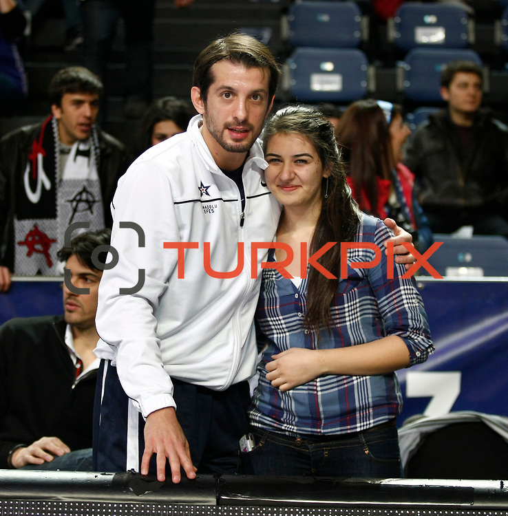 Anadolu Efes's Kerem Tunceri during their Turkish Airlines Euroleague Basketball Top 16 Group E Game 4 match Anadolu Efes between Olympiacos at Sinan Erdem Arena in Istanbul, Turkey, Wednesday, February 08, 2012. Photo by TURKPIX