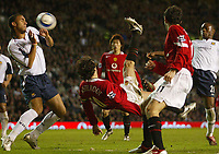 Photo: Aidan Ellis.<br /> Manchester United v West Ham United. The Barclays Premiership. 29/03/2006.<br /> Manchester's Ruud Van Nistelrooy comes close to scoring with this overhead kick
