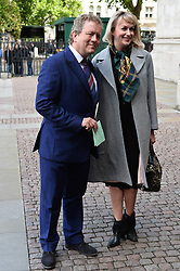 © Licensed to London News Pictures. 07/06/2017. London, UK.  JON CULSHAW and partner JOSIE SMITH attends a service of Thanksgiving for the life and work of RONNIE CORBETT at Westminster Abbey. The entertainer, comedian, actor, writer, and broadcaster was best known for his long association with Ronnie Barker in the BBC television comedy sketch show The Two Ronnies. Photo credit: Ray Tang/LNP