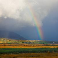 Stormy irish Weather with rainbow, County Kerry, ireland / rb011