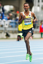 adidas Grand Prix Diamond League professional track & field meet: mens 5000 meters, Dejen GEBREMESKEL, Ethiopia