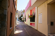 Street and Building in Chania, Crete, Greece