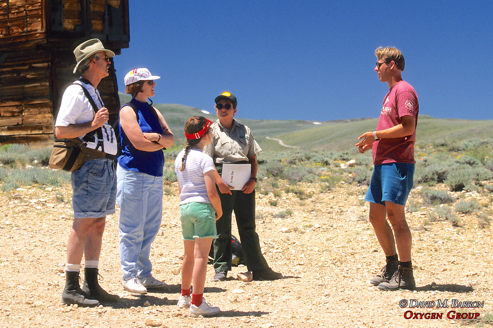 John Frisch Speaking To Tourists on Bodie Tour
