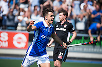 UTRECHT -  Jasper Luijkx (Kampong) heeft gescoord   tijdens   de finale van de play-offs om de landtitel tussen de heren van Kampong en Amsterdam (3-1). Kampong kampong kampioen van Nederland. COPYRIGHT  KOEN SUYK