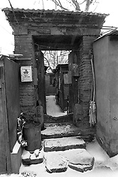 Doorway to old house in old house in Beijing China