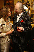 Caroline Michel and Ed Victor. charles Finch and Chanel 6th Anniversary Pre-Bafta party to celebratew A Great Year of Film and Fashion Beyond the Red Carpet at Annabel's. Berkeley Sq. London W1. 18 February 2006. ONE TIME USE ONLY - DO NOT ARCHIVE  © Copyright Photograph by Dafydd Jones 66 Stockwell Park Rd. London SW9 0DA Tel 020 7733 0108 www.dafjones.com