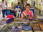 "23 APRIL 2013 - BANGKOK, THAILAND:   A book fair in the walkway of the Siam Skytrain station in Bangkok in honor of Bangkok being named the World Book Capital. UNESCO has awarded Bangkok the World Book Capital City 2013. Bangkok is the 13th city to assume the title of ""World Book Capital"", taking over from Yerevan, Armenia. Bangkok Governor Suhumbhand Paribatra announced plans that the Bangkok Metropolitan Administration (BMA) intends to encourage reading among Thais. The BMA runs 37 public libraries in the city and has modernised 14 of them. It plans to build 10 more public libraries every year. Port Harcourt, Nigeria will be the next World Book Capital in 2014..PHOTO BY JACK KURTZ"