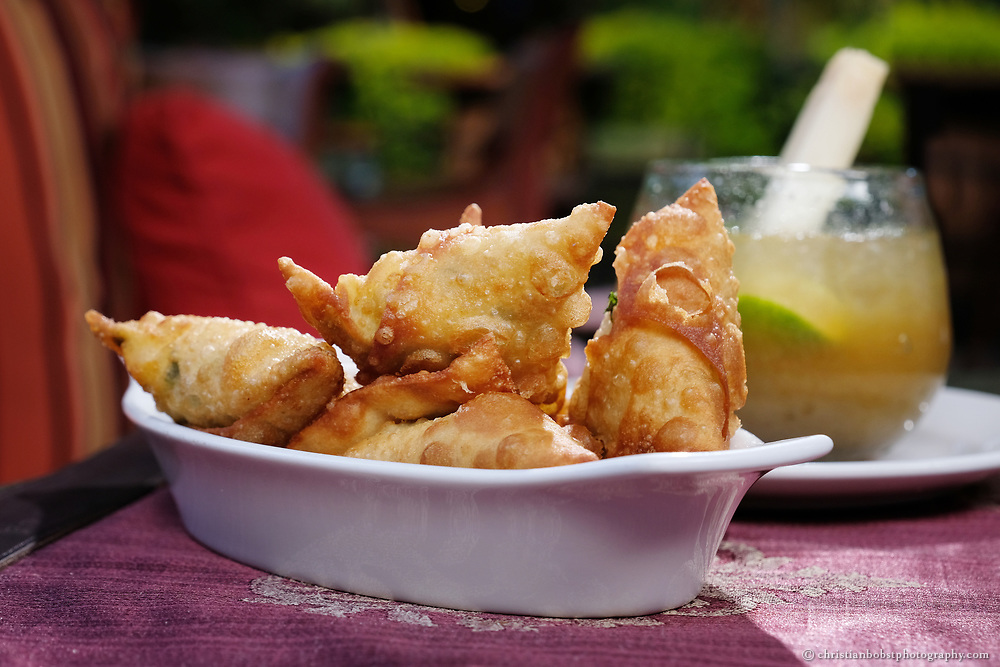 The Talisman testaurant and bar in the fancy Karem district of Nairobi is well known for its legendary samosas, fine food and drinks.