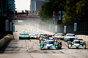 September 2-4, 2011. American Le Mans Series, Baltimore Grand Prix. Start of the ALMS race, led by 16 Dyson Racing Team, Chris Dyson, Guy Smith, Lola B09/86, Mazda MZR-R 2.0 L Turbo I4, 20 Oryx Dyson Racing