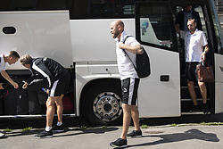 July 23, 2018 - Cluj, Romania - 180723 Assistant coach trÅnare Olof Persson of MalmÅ¡ FF arrives to the hotel ahead of the the UEFA Champions League qualifying match between Cluj and MalmÅ¡ FF on July 23, 2018 in Cluj..Photo: Ludvig Thunman / BILDBYRN / kod LT / 35508 (Credit Image: © Ludvig Thunman/Bildbyran via ZUMA Press)