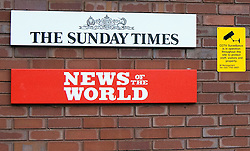 © Licensed to London News Pictures. LONDON, UK  07/07/11. © Licensed to London News Pictures. LONDON, UK  07/07/11. General views of an entrance to News International today (Thurs). The News of the World newspaper will close after a final edition this weekend, News International chairman James Murdoch said today. Please see special instructions for usage rates. Photo credit should read Matt Cetti-Roberts/LNP