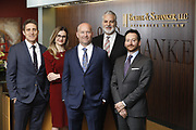 SHOT 1/8/19 12:19:52 PM - Bachus & Schanker LLC lawyers James Olsen, Maaren Johnson, J. Kyle Bachus, Darin Schanker and Andrew Quisenberry in their downtown Denver, Co. offices. The law firm specializes in car accidents, personal injury cases, consumer rights, class action suits and much more. (Photo by Marc Piscotty / © 2018)