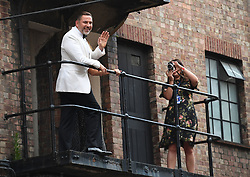 David Walliams poses for a photograph on a balcony at the Hammersmith Apollo, London, ahead of the final of Britain's Got Talent.