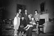 Padraig O'hAnnrachain at Aras an Uachtarain.20/06/1966