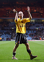 Photo: Rich Eaton.<br /> <br /> Aston Villa v Arsenal. The Barclays Premiership. 14/03/2007. Freddie Ljungberg of Arsenal celebrates his teams 1-0 victory away at Aston Villa