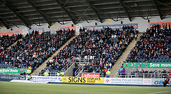 South stand. <br /> Falkirk 3 v 2 St Mirren, Scottish Championship game played 9/4/2016 today at The Falkirk Stadium.