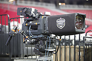 A FOX Sports television camera in action during the Arizona Cardinals NFL week 7 regular season football game against the Denver Broncos on Thursday, Oct. 18, 2018 in Glendale, Ariz. The Broncos won the game 45-10. (©Paul Anthony Spinelli)