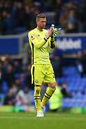 Everton Goalkeeper Maarten Stekelenburg looking dejected at the end of the game. Premier league match, Everton v Chelsea at Goodison Park in Liverpool, Merseyside on Sunday 30th April 2017.<br /> pic by Chris Stading, Andrew Orchard sports photography.