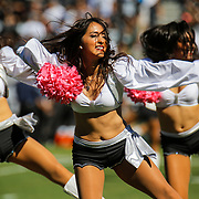 Oct 12 2014 - Oakland U.S. CA - Oakland Raiderettes performance during NFL Football game between San Diego Chargers and  Oakland Raiders 28-31 lost at O.co Coliseum Stadium Oakland Calif.