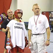 2. WOMEN'S WORLD BOXING CHAMPIONSHIPS.<br /> Denmark's Tina Hansen  semi final  lose.  Dilek Sabanci Sport Hall Antalya/Turkey<br /> Photo by Aykut AKICI/TurkSporFoto