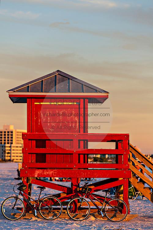 Sunset over Siesta Key beach in Sarasota, Florida