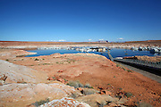 Wahweap marina Lake Powell and the Glen Canyon National Recreation area Arizona, USA