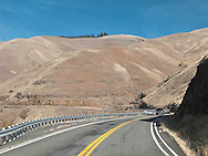 Rattlesnake Grade climbs from the Grande Ronde River Canyon, WA, USA