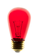 a red lightbulb