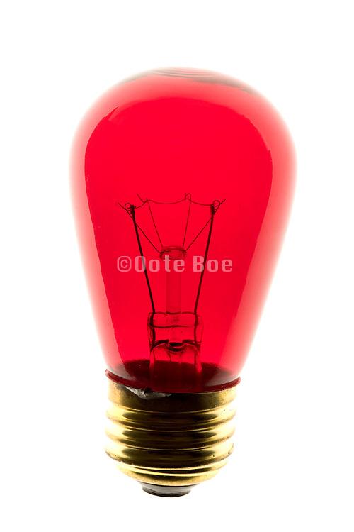 a red lightbulb