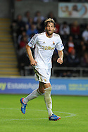 Swansea city's Michu .Pre-season friendly match, Swansea city v Blackpool at the Liberty Stadium in Swansea, South Wales on Tuesday 7th August 2012. pic by Andrew Orchard, Andrew Orchard sports photography,