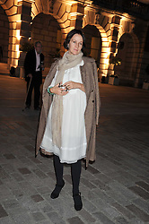 LUCY BIRLEY attends the private view of Anish Kapoor's latest exhibition at the Royal Academy of Arts, Piccadilly, London on 22nd September 2009