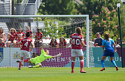 Sophie Baggaley of Bristol City Women is beaten by an Arsenal ball - Mandatory by-line: Paul Knight/JMP - 20/05/2018 - FOOTBALL - Stoke Gifford Stadium - Bristol, England - Bristol City Women v Arsenal Ladies - FA Women's Super League 1