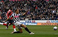 Photo: Steve Bond/Sportsbeat Images.<br />West Bromwich Albion v Charlton Athletic. Coca Cola Championship. 15/12/2007. Roman Bednar scores for West Brom