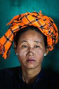 Myanmar/Burma. Portrait of a woman.