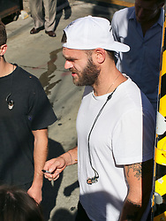 Andrew Taggart of music duo 'The Chainsmokers' is seen arriving at 'Jimmy Kimmel Live' in Los Angeles, California. NON-EXCLUSIVE September 13, 2018. 13 Sep 2018 Pictured: Alex Pall. Photo credit: BG017/Bauergriffin.com / MEGA TheMegaAgency.com +1 888 505 6342