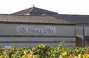 Vineyard. Winery building. Chateau La Grace Dieu. Saint Emilion, Bordeaux, France