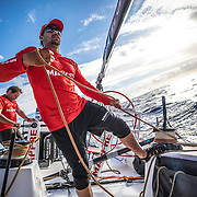 Leg 4, Melbourne to Hong Kong, day 05 on board MAPFRE, Guillermo Altadill. Photo by Ugo Fonolla/Volvo Ocean Race. 06 January, 2018.